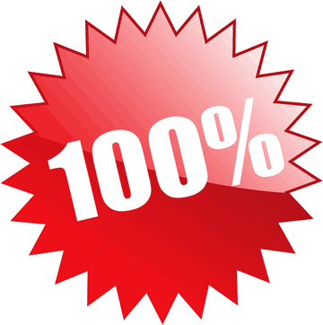 100 Percent Red Star Sign 360 x 362